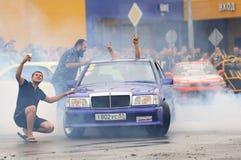 Orel, Rosja, Lipiec 22, 2017: Dynamica samochodu festiwal Ludzie Zdjęcie Stock