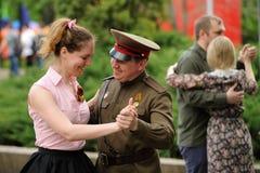 Orel Rosja, Maj, - 9, 2016: Świętowanie 71th rocznica t fotografia stock