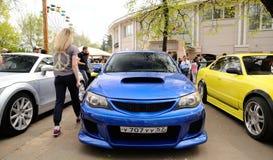 Orel Rosja, Maj, - 01, 2017: Auto pinkin Nastrajający obyczajowi samochody Zdjęcia Stock