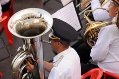 Orel Rosja, Sierpień, - 04, 2016: Mosiężnych zespołów fest wojskowy ja Fotografia Stock