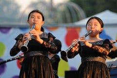 Orel Rosja, Sierpień, - 05, 2016: Orel miasta dzień Chińskie dziewczyn śliwki Obraz Stock