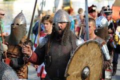 Orel Rosja, Sierpień, - 05, 2016: Orel miasta dzień Mężczyzna w średniowiecznym a Fotografia Stock