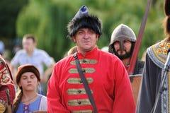 Orel Rosja, Sierpień, - 05, 2016: Orel miasta dzień Mężczyzna w średniowiecznym R Fotografia Stock