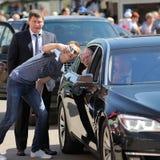 Orel Rosja, Sierpień, - 05, 2016: Orel miasta dzień Młodego człowieka robić Fotografia Royalty Free