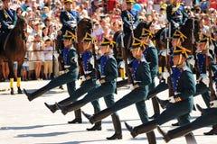 Orel Rosja, Sierpień, - 05, 2016: Orel miasta dzień Maszerować i hors Fotografia Stock