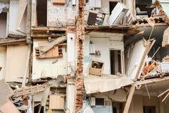 Orel, Rosja, Sierpień 29, 2017: Zawalenie się stary mieszkanie dom Fotografia Royalty Free