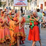 Orel, Rosja, Sierpień 4, 2015: Orlovskaya Mozaika ludowy festiwal, Obrazy Royalty Free