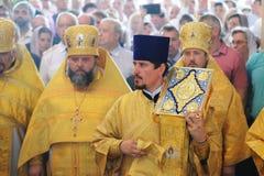 Orel, Rusia - 28 de julio de 2016: Aniversario del bautismo de Rusia divino Fotos de archivo libres de regalías