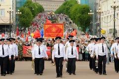 Orel, Rusia - 9 de mayo de 2016: Celebración del 71o aniversario de t Fotografía de archivo