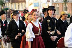 Orel, Rusia, el 4 de agosto de 2015: Festival popular de Orlovskaya Mozaika, Foto de archivo