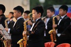 Orel, Rusland - Augustus 05, 2016: De stadsdag van Orel Chinese kinderen Stock Foto's