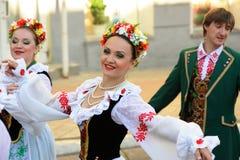Orel, Rusland, 4 Augustus, 2015: Het volksfestival van Orlovskayamozaika, Stock Afbeelding