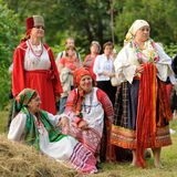 Orel, Rusland - Juni 19, 2015: De muziek van Orlovskayamozaika fest: gir Stock Foto's