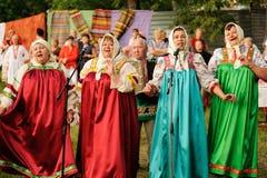 Orel, Rusland - Juni 19, 2015: De muziek van Orlovskayamozaika fest: wom Stock Foto's
