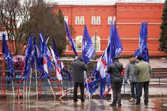 Orel, Rusland - Maart 18, 2016: Het tweede Jaarverjaardag van de Krim Stock Foto