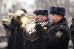 Orel, Rusland - Maart 18, 2016: Het tweede Jaarverjaardag van de Krim Stock Foto's