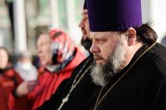 Orel, Russia - 20 aprile 2017: Festival ortodosso di scampanio a Fotografia Stock Libera da Diritti