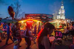 Orel, Russia, August 05, 2017: City Day. People selebrate and wa Stock Photography