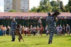 Orel, Russia, August 01, 2015: Mumu Fest, Turgenev's story art-f Royalty Free Stock Images