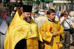 Orel, Russia - August 5, 2015: Orel Metropolitan Alexander perfo Stock Photography