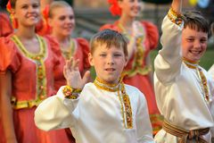 Orel, Russia, August 4, 2015: Orlovskaya Mozaika folk festival, Royalty Free Stock Photo