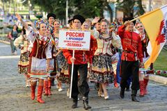 Orel, Russia, August 4, 2015: Orlovskaya Mozaika folk festival, Royalty Free Stock Photos