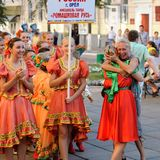 Orel, Russia, August 4, 2015: Orlovskaya Mozaika folk festival, Royalty Free Stock Images