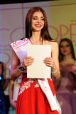 Orel, Russia - December 20, 2015: Miss Orel 2015 beauty contest. Stock Image