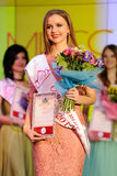Orel, Russia - December 20, 2015: Miss Orel 2015 beauty contest. Stock Images