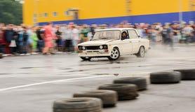 Orel, Russia, il 22 luglio 2017: Festival dell'automobile di Dynamica Bianco sintonizzato Immagini Stock