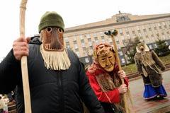 Orel, Russia, January 6, 2018: Koliada, Russian winter festival Royalty Free Stock Photo