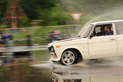 Orel, Russia, July 22, 2017: Dynamica car festival. White tuned Stock Photography