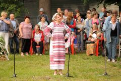 Orel, Russia - June 19, 2015: Orlovskaya Mozaika music fest: gir Royalty Free Stock Photos