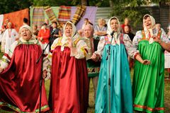 Orel, Russia - June 19, 2015: Orlovskaya Mozaika music fest: wom Stock Photos