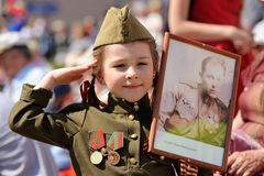 Orel, Russia - May 9, 2016: Celebration of 71th anniversary of t Royalty Free Stock Photo