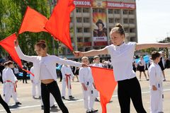 Orel, Russia - May 09, 2015: Celebration of the 70th anniversary Royalty Free Stock Photo