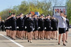 Orel, Russia - May 09, 2015: Celebration of the 70th anniversary Royalty Free Stock Images