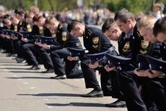 Orel, Russia - May 09, 2015: Celebration of the 70th anniversary Stock Photo
