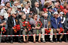 Orel, Russia - May 09, 2015: Celebration of the 70th anniversary Stock Photos