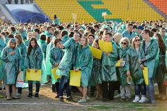 Orel, Russia, May 07, 2015, Victory Guinness Record: people in g Stock Photo