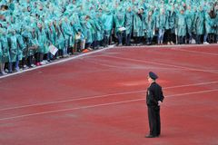 Orel, Russia, May 07, 2015, Victory Guinness Record: police offi Royalty Free Stock Photo