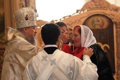 Orel, Russia - September 13, 2015: Orthodox Church Family Day. M Stock Photos