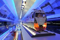 Orel, Russie - 24 août 2015 : Modèle de moteur dans le musée ferroviaire Image libre de droits