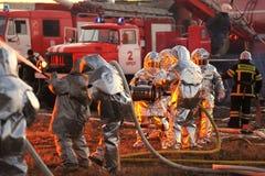 Orel, Russie - 9 décembre 2015 : Ministère de contrôle de secours Photos stock