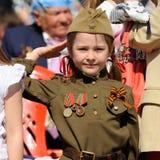 Orel, Russie - 9 mai 2016 : Célébration de 71th anniversaire de t Photographie stock libre de droits