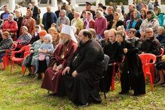 Orel, Russie - 13 septembre 2015 : Jour de famille d'église orthodoxe r Image libre de droits