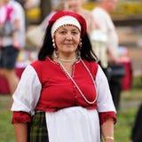 Orel, Russland - 24. Juni 2016: Turgenev-Fest-Frau im traditiona Stockfotografie