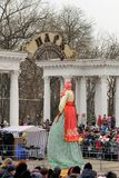 Orel, Russland, Maslenitsa-Festival - 22. Februar 2015: Kostroma Lizenzfreies Stockfoto