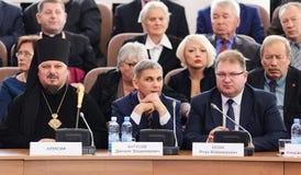 Orel, Russland, Oktober, 7, 2017: Neue Orel-Gouverneurdarstellung Stockfoto