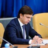 Orel, Russland, Oktober, 7, 2017: Neue Orel-Gouverneurdarstellung Lizenzfreies Stockbild